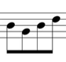 4 notes on a stave