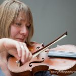 Fiddle player practicing