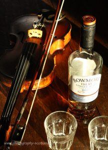 A fiddle and whisky