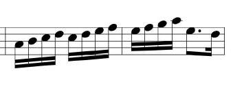 Written music - semiquaver phrase in a march